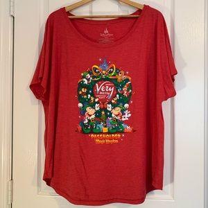 Women's Passholder Mickeys VeryMerry Christmas Tee